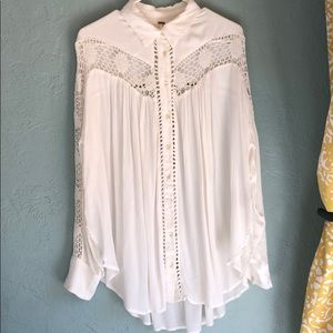 Adorable lace button up - FREE PEOPLE